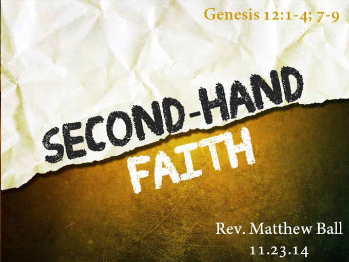 Second-hand Faith